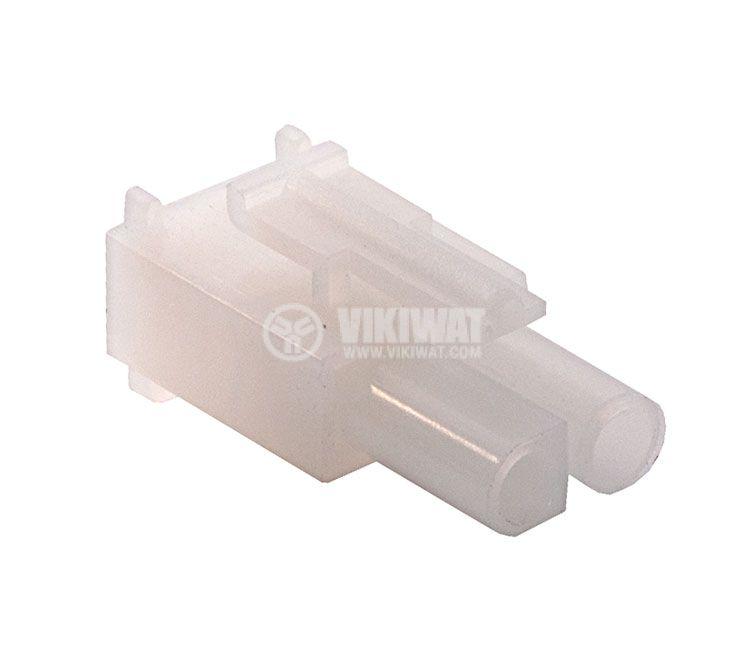 Конектор за обемен монтаж мъжки, VF67001-2R, 2 пина - 1
