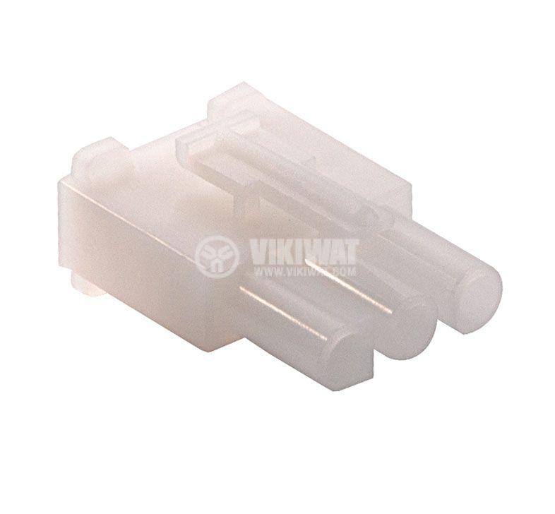 Конектор за обемен монтаж мъжки, VF67001-3R, 3 пина - 1