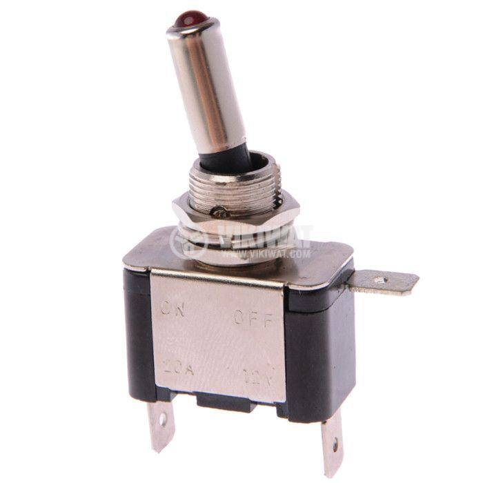 ЦК ключ с LED светодиод ASW-07D, 20A/12VDC, SPST, NO-OFF
