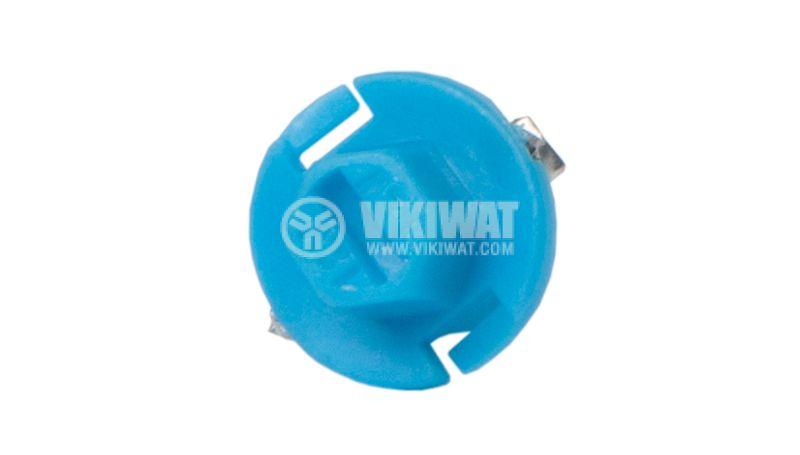 Автомобилна LED лампа 12 VDC, BX8.4D, синя - 2