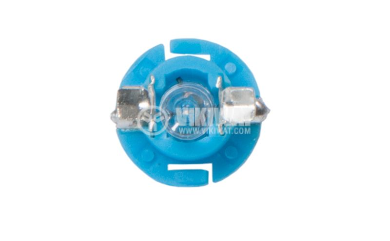 Автомобилна LED лампа 12 VDC, BX8.4D, синя - 3