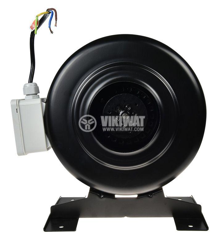 Centrifugal Pipe Fan VWR100, 220VAC, 60W, 350m3/h, ф100mm - 1