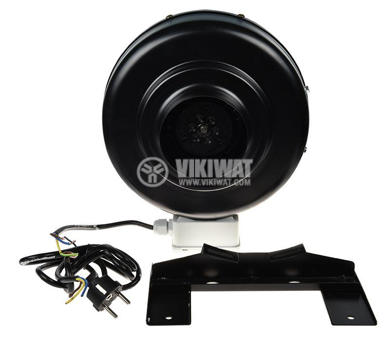 Centrifugal Pipe Fan VWR100, 220VAC, 60W, 350m3/h, ф100mm - 3