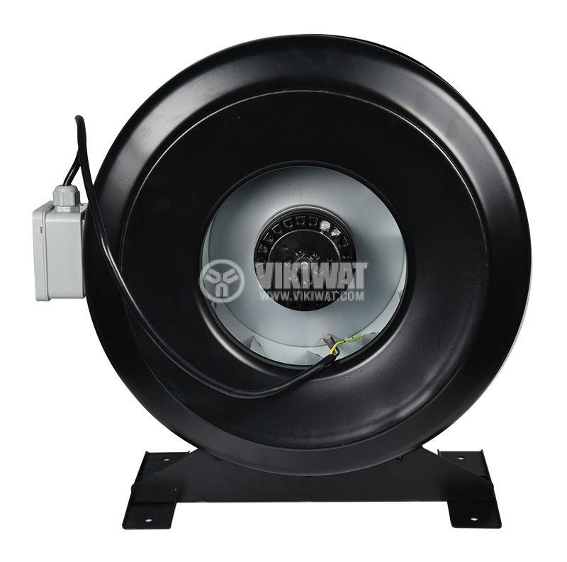 Centrifugal Pipe Fan VR-2E-200, 220VAC, 180W, 1050m3/h, ф200mm - 2