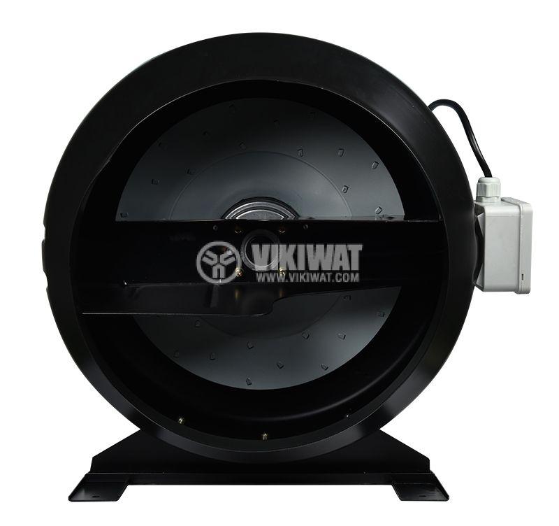 Centrifugal Pipe Fan VR-2E-200, 220VAC, 180W, 1050m3/h, ф200mm - 5