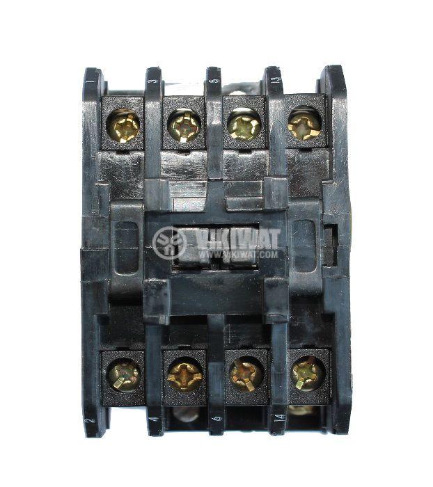 Контактор, четириполюсен, бобина 220VAC, 4PST - 4NO, 16A, МТЕ, 4NO - 3