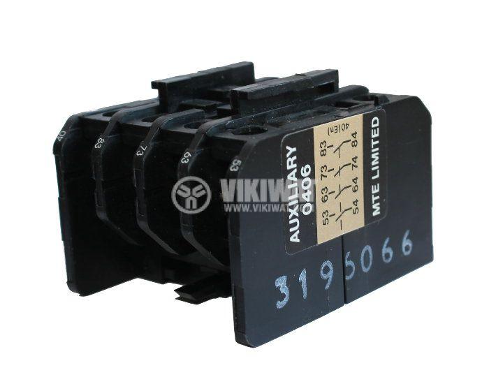Контактор, четириполюсен, бобина 220VAC, 4PST - 4NO, 16A, МТЕ, 4NO - 4