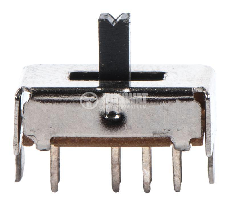 Превключвател 3 позиционен, 50VDC, 0.5A, DP3T - 1