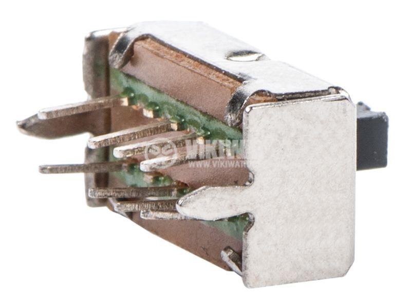 Превключвател 3 позиционен, 50VDC, 0.5A, DP3T - 2