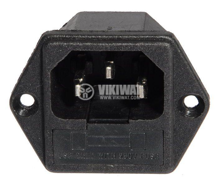 Захранващ конектор АC, C14(E), 250VAC, 10A - 2