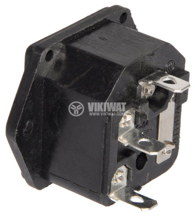 Захранващ конектор АC, C14(E), 250VAC, 10A - 3