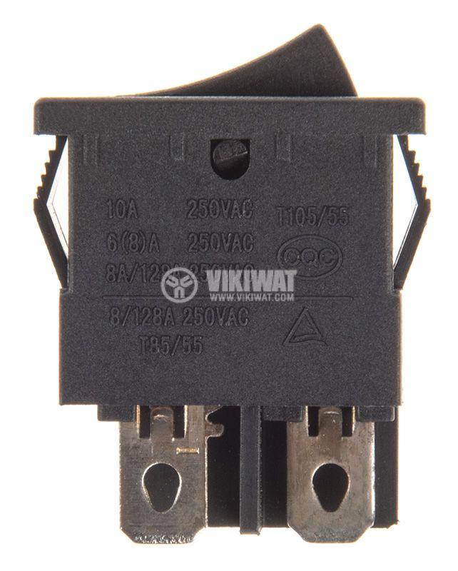 Rocker превключвател, 2 позиции, OFF-ON, 10A/250VAC, отвор 19x13mm - 2