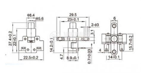Превключвател мрежов CY02G1, захранващ 230VAC 6A - 3