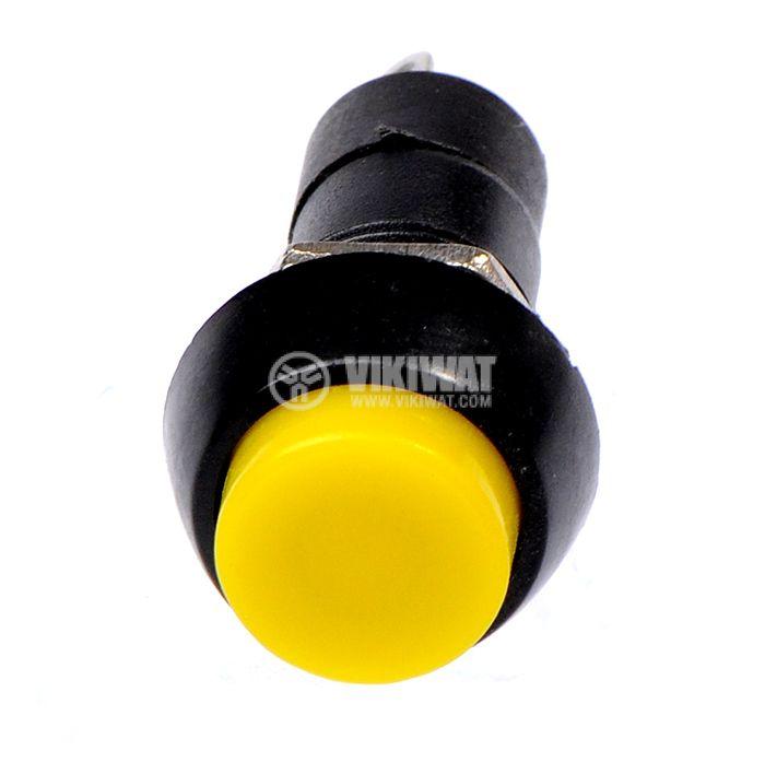 Бутон, CY01H-Y, NO, 2A / 230VAC, незадържащ, жълт - 2