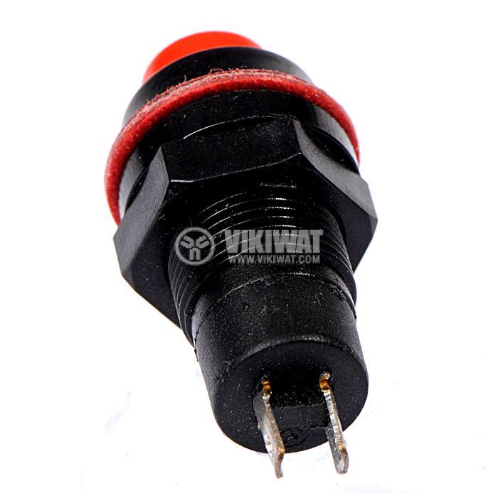 Бутон, CY01K-R, NO, 2A / 230VAC, незадържащ, червен - 3