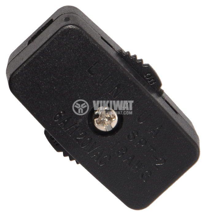 Превключвател мрежов, междинен,  XW-603Z1, 250VAC, 2A