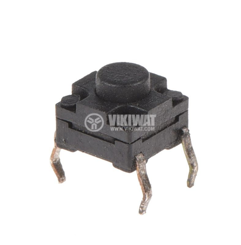 Микробутон, 6x6x5mm, SPST, OFF-(ON), THT, CY-A05-09