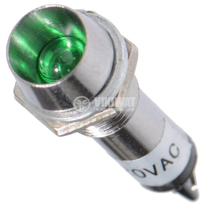 Индикаторна лампа LED, CY-10A-G, 220VAC - 1