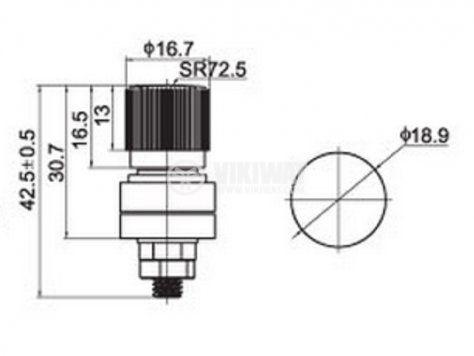 Клема изходна CY-333B 220V 50A черна - 3
