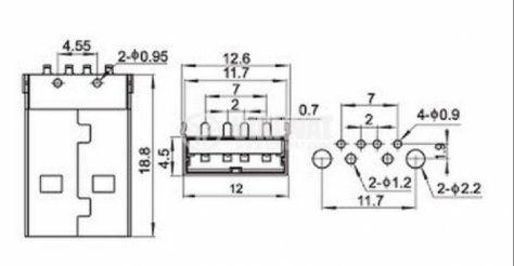 Конектор, USB A, M - 3