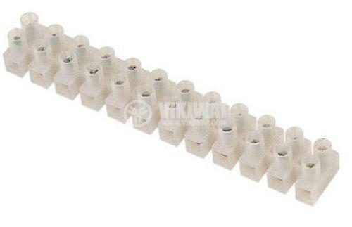 Лустер клема HDS-20A, PVC, 12-полюсни, 6mm2, 20A, 250V