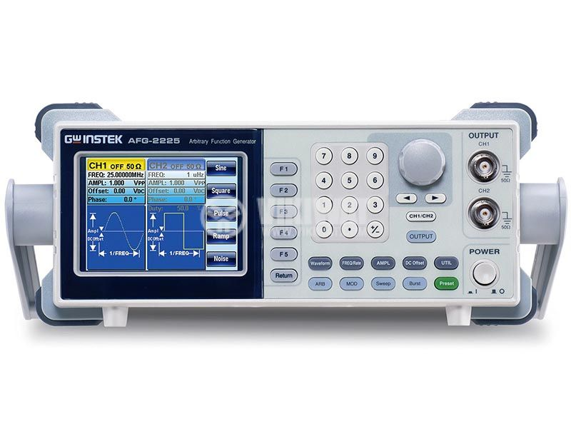 Function Generator AFG-2225, 2 channel, 1 μHz to 25 MHz (sine/square wave) - 1