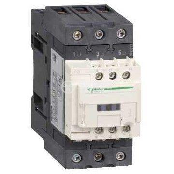 Контактор, трифазен, бобина 220VAC, 3PST - 3NO, 40A, LC1D40AM7, NO+NC - 1