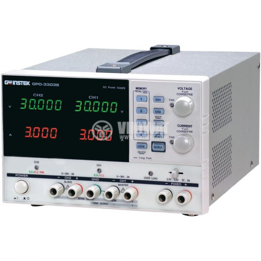 Programmable Linear DC Power Supply GPD-3303S, 3 Independent Isolated Output - 1