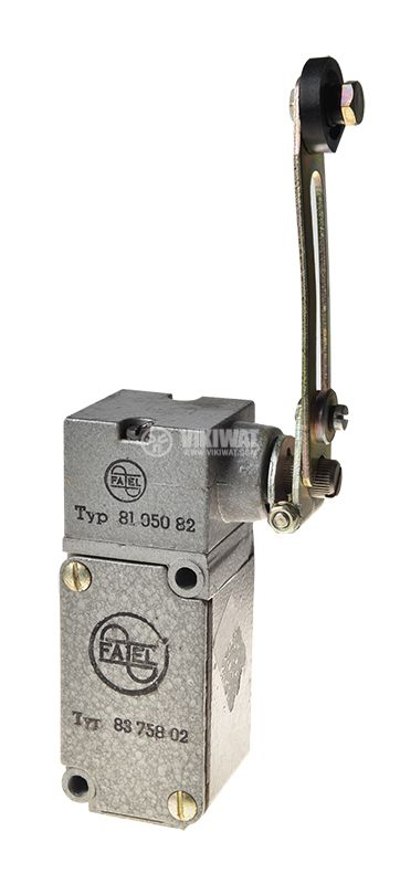 Limit switch, Fael 8375802, 380VAC, 16A, 2xNO+2xNC, roller lever - 1