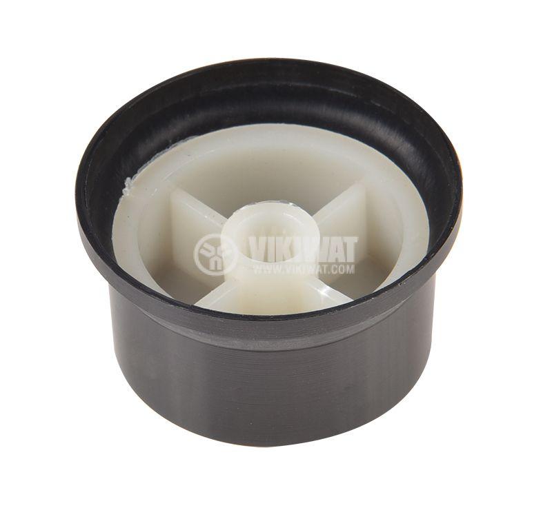Копче за потенциометър Ф34х18 mm с индикатор оксидиран - 3