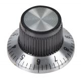 Potentiometer knob Ф23.8.8х14.5 mm with flange and counting dial