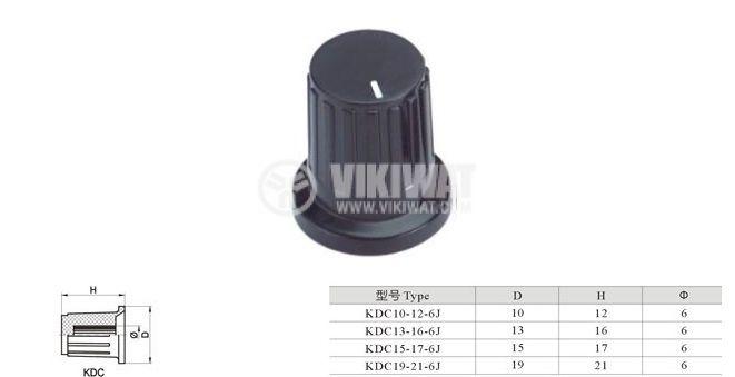 Копче за потенциометър Ф15х17 mm с индикатор KDC15-17-6J