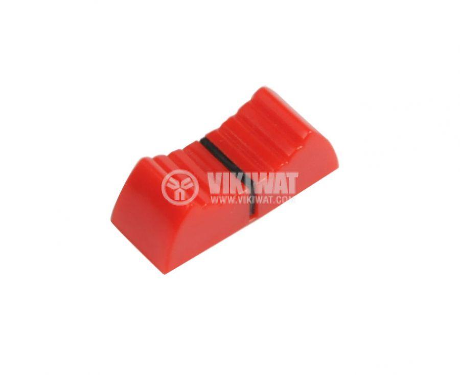 Potentiometer knob, KA483-01, red and black, 23x9x9.5mm - 1