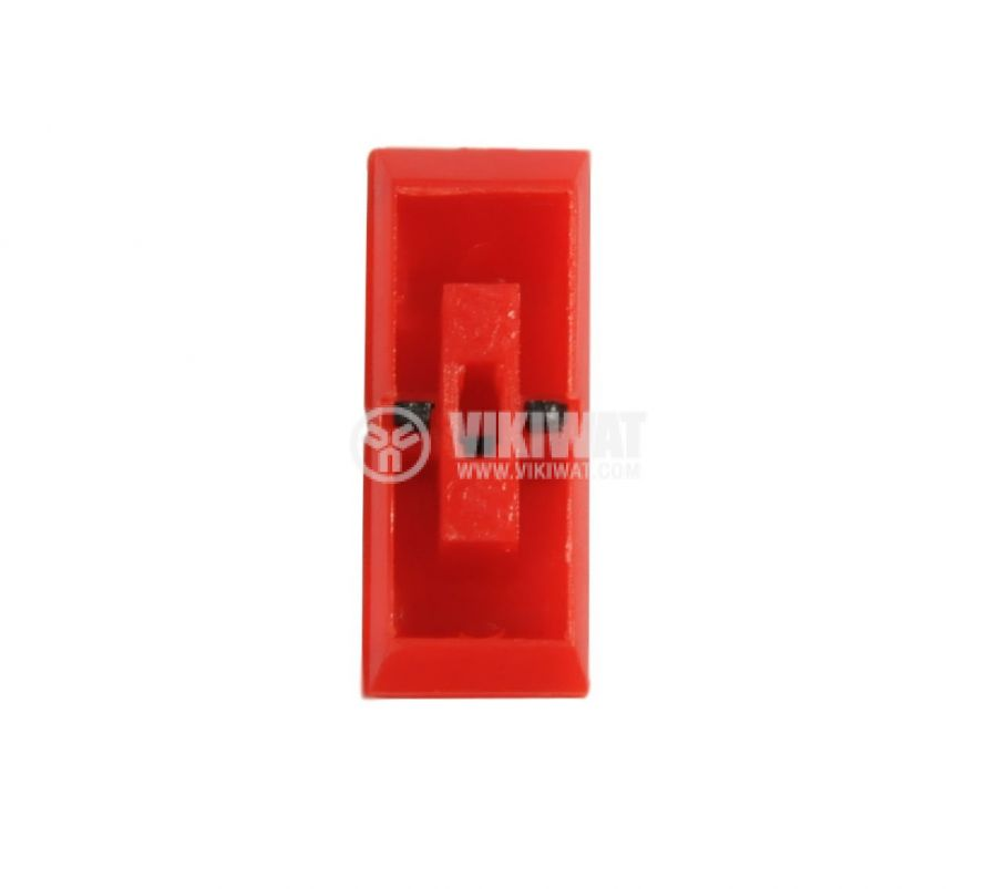 Potentiometer knob, KA483-01, red and black, 23x9x9.5mm - 2
