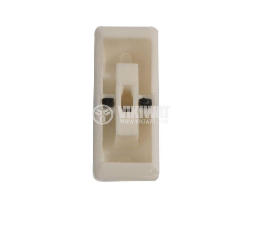 Potentiometer knob, KA483-01, white and black, 23x9x9.5mm - 2
