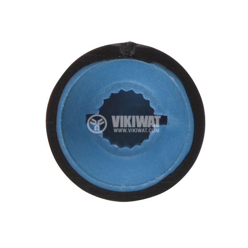 Копче за потенциометър ф16х14mm, с фланец и индикаторна линия - 3