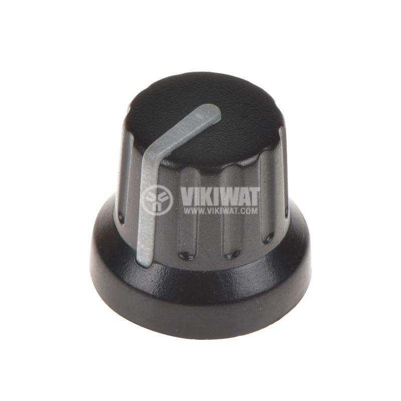 Копче за потенциометър ф16х14mm, с фланец и индикаторна линия - 1