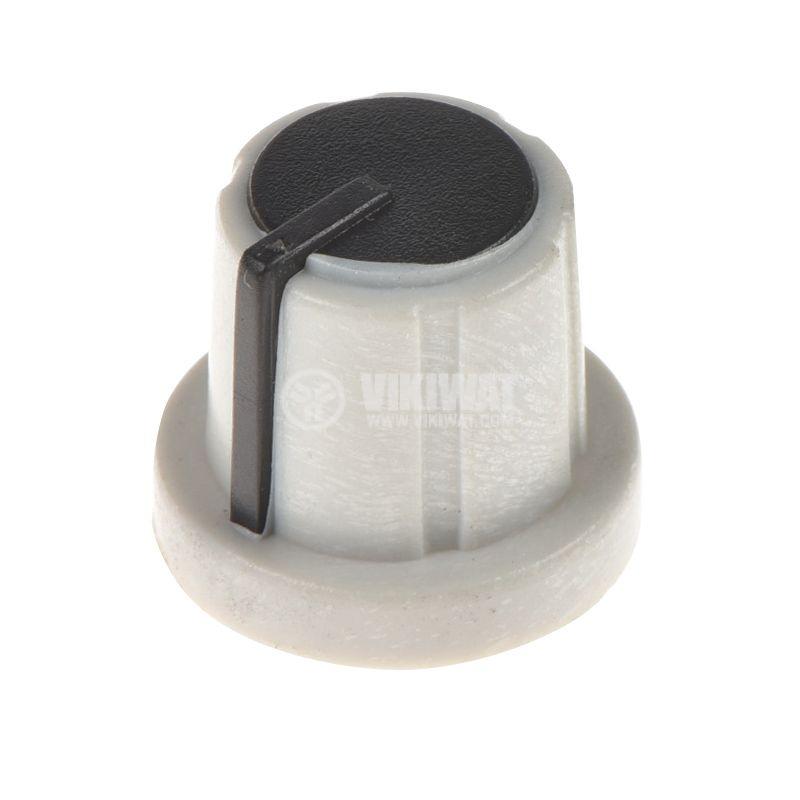 Копче за потенциометър ф17.5х15mm, с фланец и индикаторна линия - 1