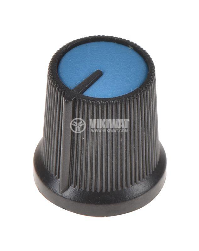 Копче за потенциометър ф15х15mm, с фланец и индикаторна линия - 1