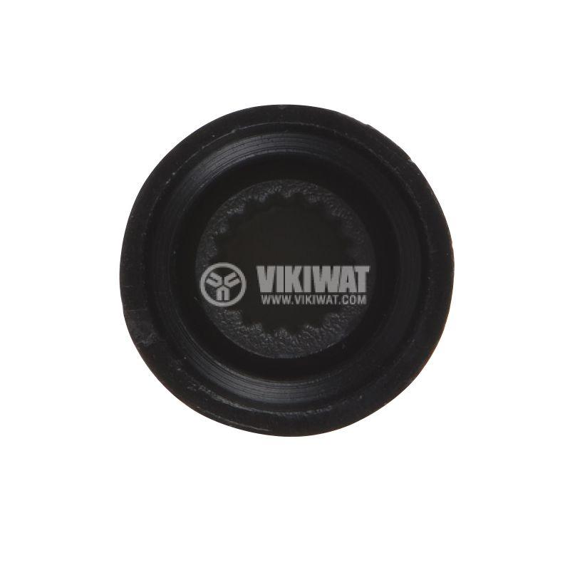 Копче за потенциометър ф15х15mm, с фланец и индикаторна линия - 3