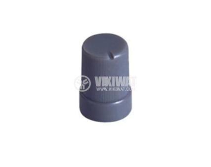 Копче за потенциометър с размери Ф10x15 mm, с фланец и индикатор, сиво