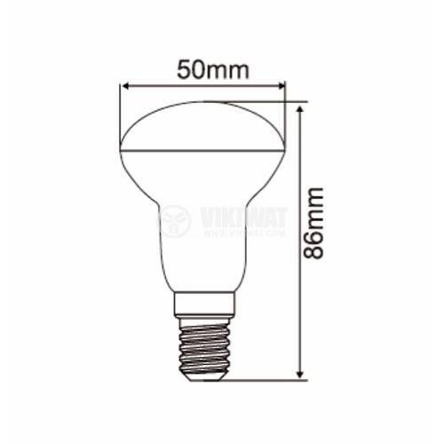 LED lamp 6W, E14, 230VAC, 530lm, 3000K, warm white, BA34-00610   - 3