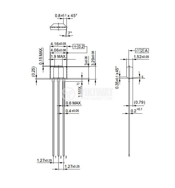 Датчик на Хол, TLE4935L PG-SSO-3-2, 3.8-32 VDC, 100 mA, 3 pins - 4