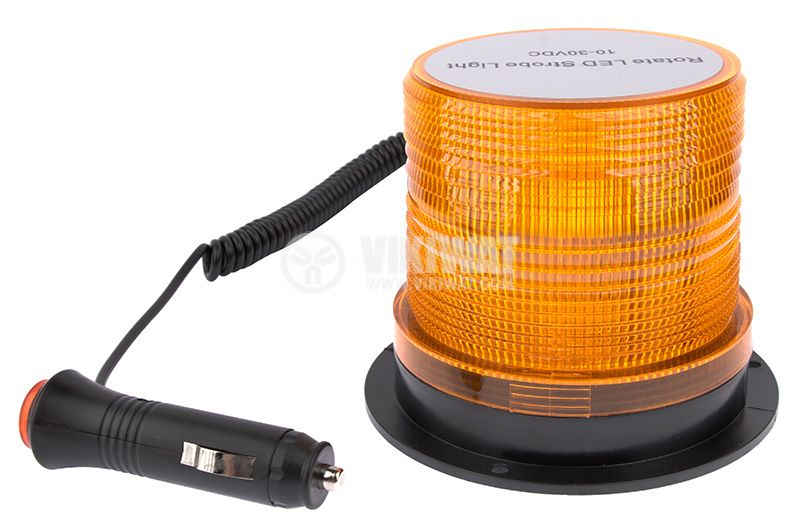 Flashing light, RD-205, LED48, 10-30VDC, orange with magnet - 1