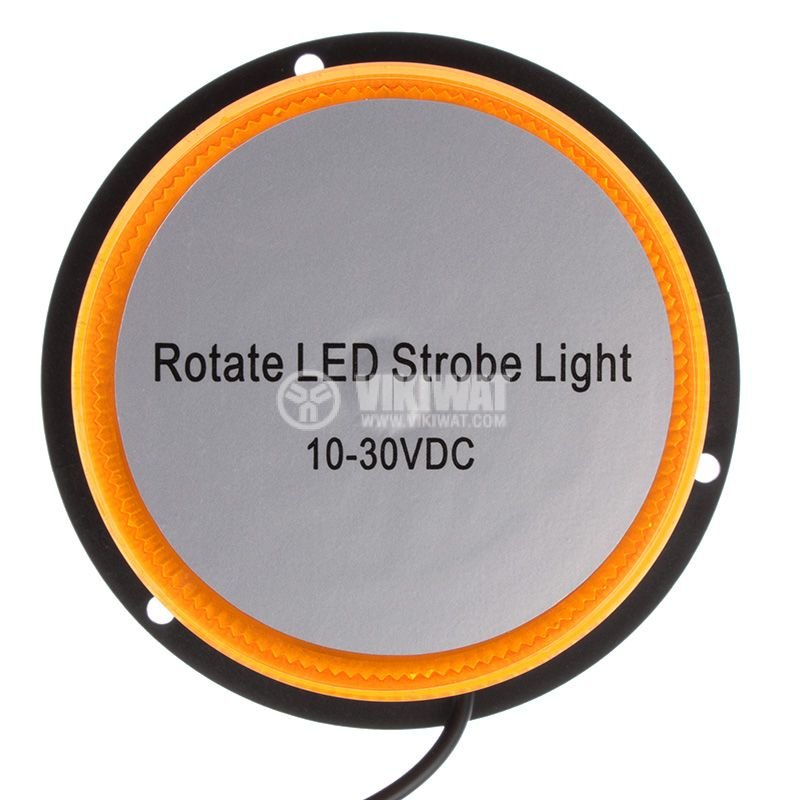 Flashing light, RD-205, LED48, 10-30VDC, orange with magnet - 3