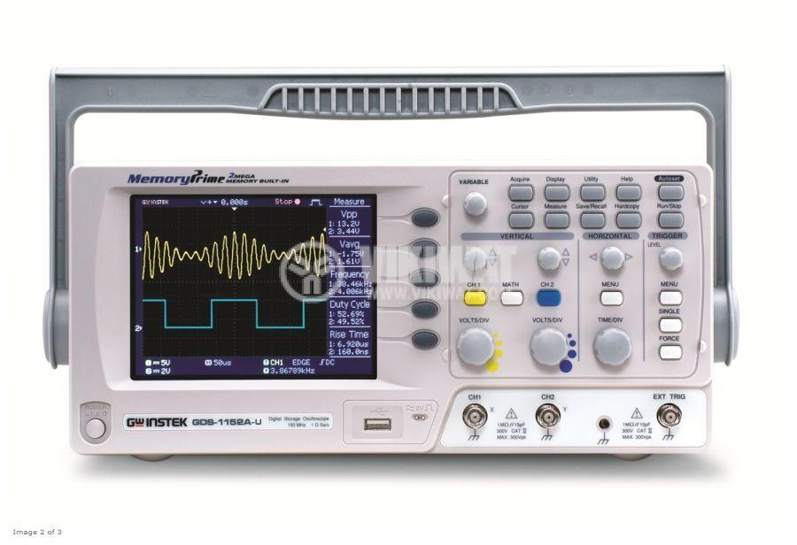Цифров осцилоскоп GDS-1072A-U, 70 MHz, 1 GSa/s реално време, 2 канален - 1