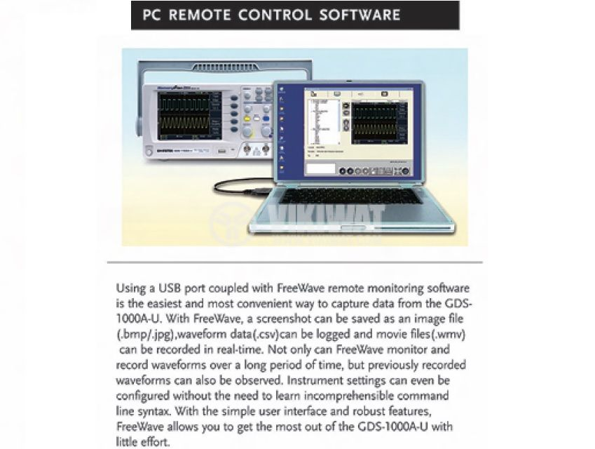 Цифров осцилоскоп GDS-1072A-U, 70 MHz, 1 GSa/s реално време, 2 канален - 3