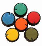Копче за потенциометър Ф26х15 mm с индикатор цилиндрично зелен цвят