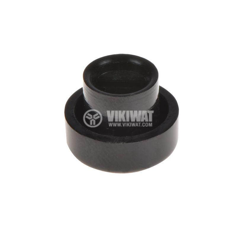Копче за потенциометър, ф12х9mm, с индикатор, черно - 2