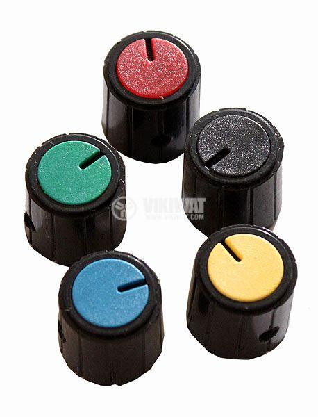 Копче за потенциометър Ф18х18 mm с индикатор син цвят